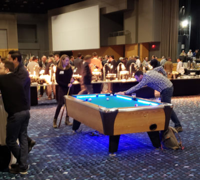 LED Pool Tables at Corporate Party