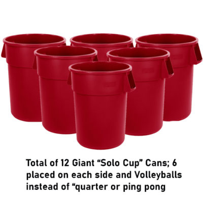 Giant Pong using 55 gallon Cups