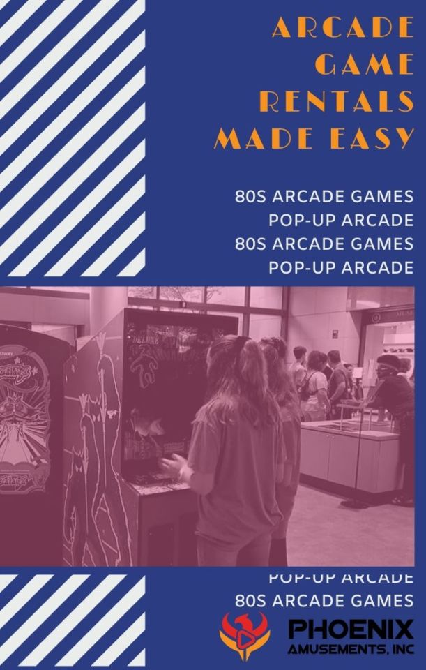 Pop-up Arcade 80s Arcade Machines