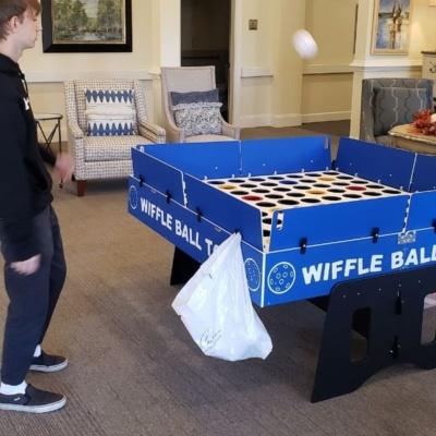 Playing Wiffle Ball
