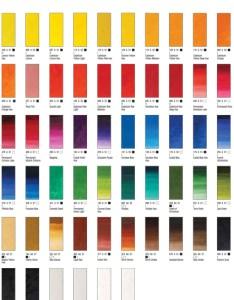 Winton color chart also oil colours paint doylestown bucks county pa rh phoenixartsupplies