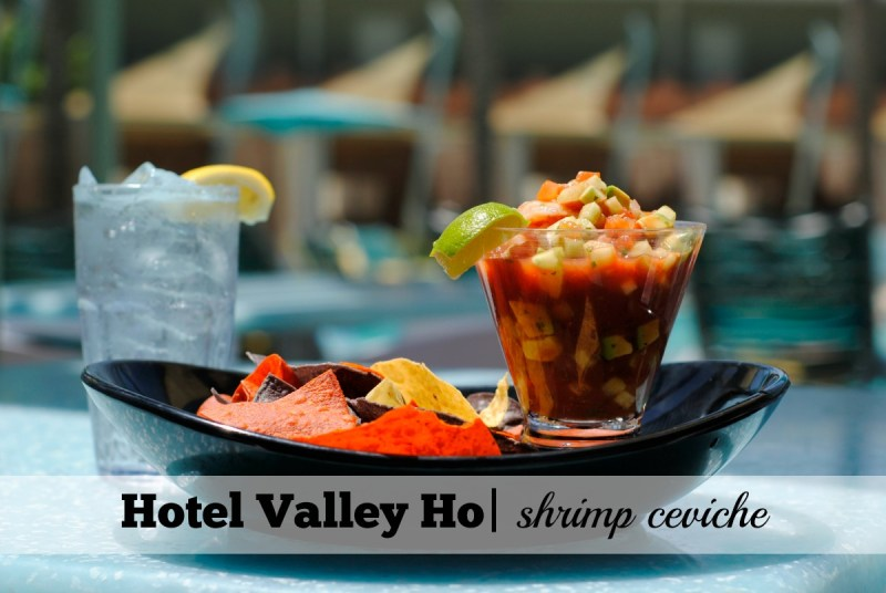4 Poolside Dining Spot at Scottsdale Local Resorts_Hotel Valley Ho_Shrimp Ceviche