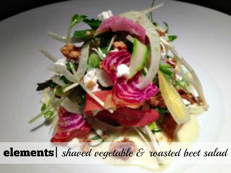 9 Hot Spots for Cool Summer Salads: elements' Shaved Vegetable & Roasted Beet Salad