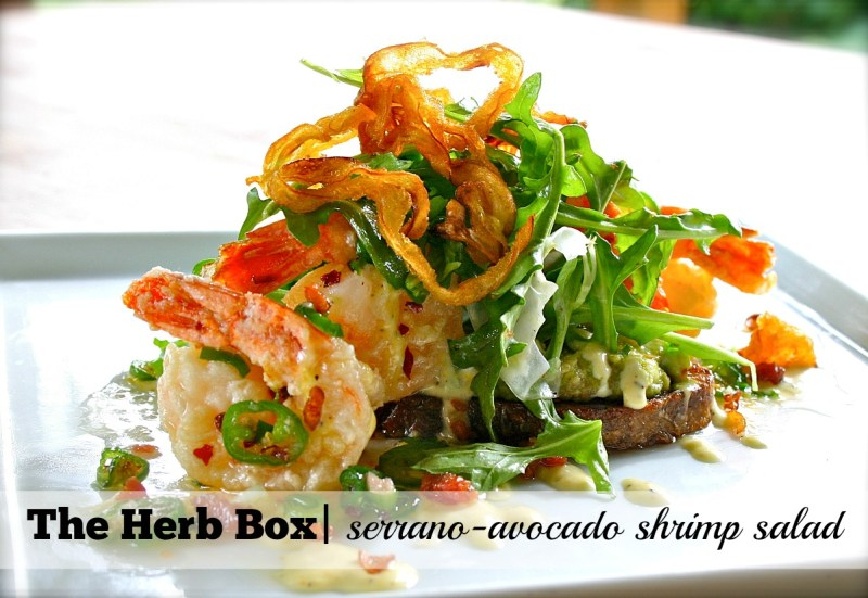 9 Hot Spots for Cool Summer Salads_The Herb Box_Serrano-Avocado Shrimp Salad
