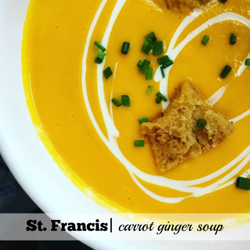 St. Francis Summer Menu: Carrot Ginger Soup