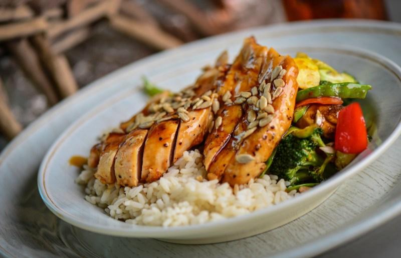 Crab & Mermaid Fish Shop Summer Specials Grilled Chicken Teriyaki Bowl
