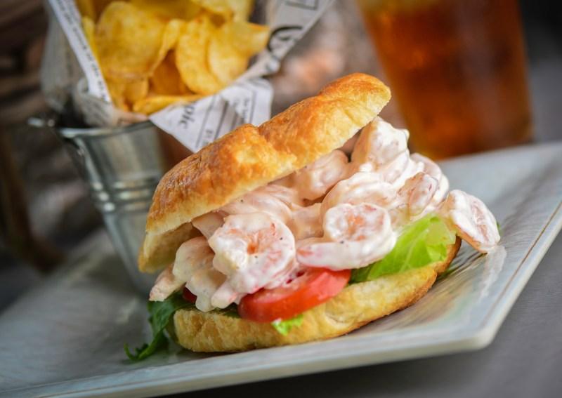 Crab & Mermaid Fish Shop Summer Specials Shrimp Salad Sandwich