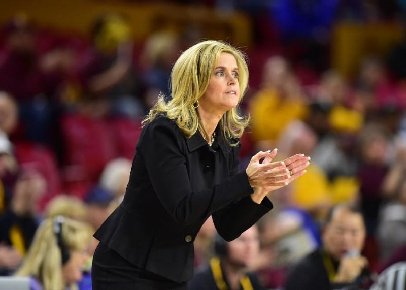 Arizona State University women's basketball coach Charli Turner Thorne