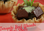 Teriyaki Beef Wasabi Mini Shells
