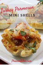 Turkey Parmesan Mini Shells