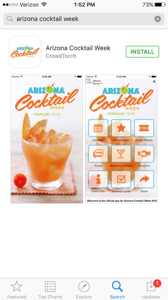Arizona Cocktail Week Mobile App
