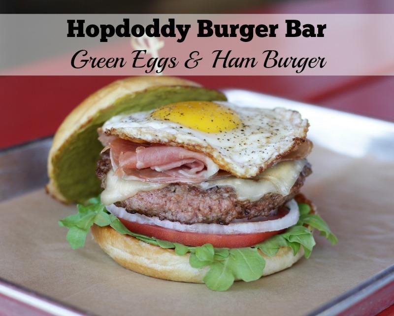 Hopdoddy Burger Bar's March Green Eggs & Ham Burger