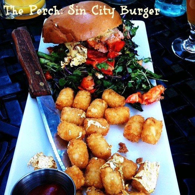 The Perch Sin City Burger