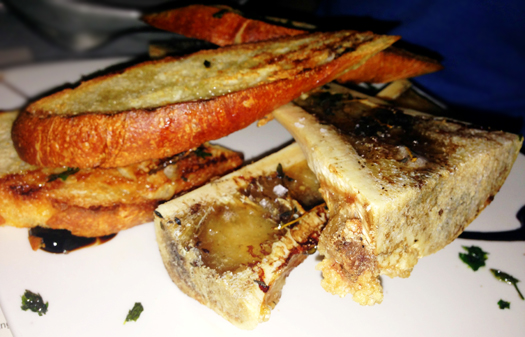 Marrow Bone with sea salt and onion jam
