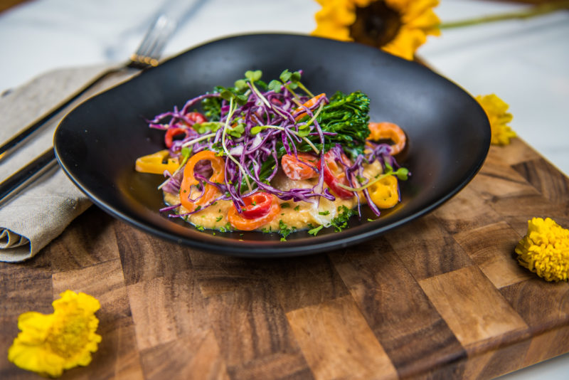 Farm & Craft protein hummus salad