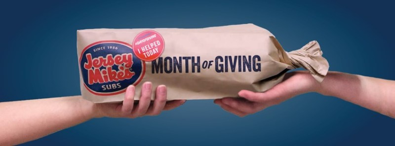 Month of Giving at Jersey Mike's