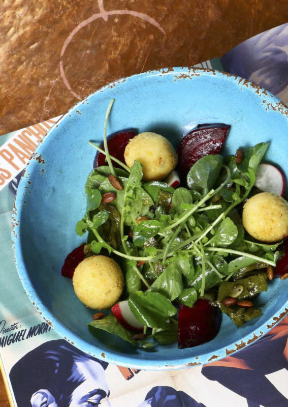 Elote Cafe Notebook | Roasted Beet Salad with Cider-Agave Vinaigrette & Watercress