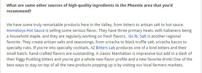 FoodyDirect Expert Interview Snippet