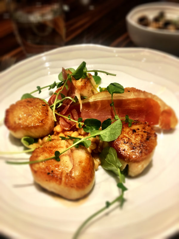 The Lincoln Restaurant Scallop entree