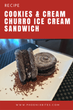 Cookies and Cream Churro Ice Cream Sandwich