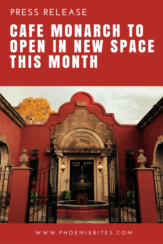 Cafe Monarch to Open In New Space This Month
