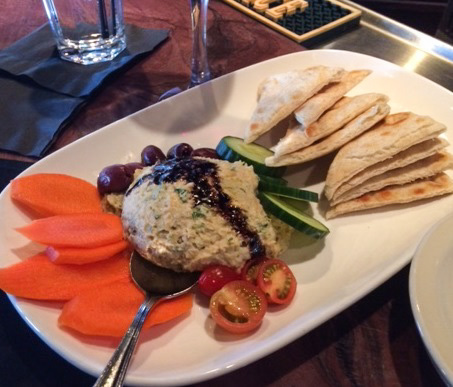 Phoenix City Grille Hummus with fresh vegetable and pita