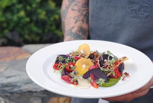 Monday Night Chef's Table at ZuZu with Rombauer Vineyards | roasted baby beets and citrus mosaic