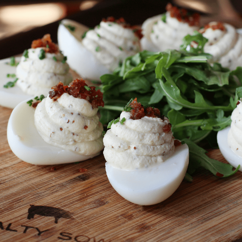 Salty Sow Truffled Deviled Eggs