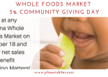 Whole Foods Market 5% Community Giving Day