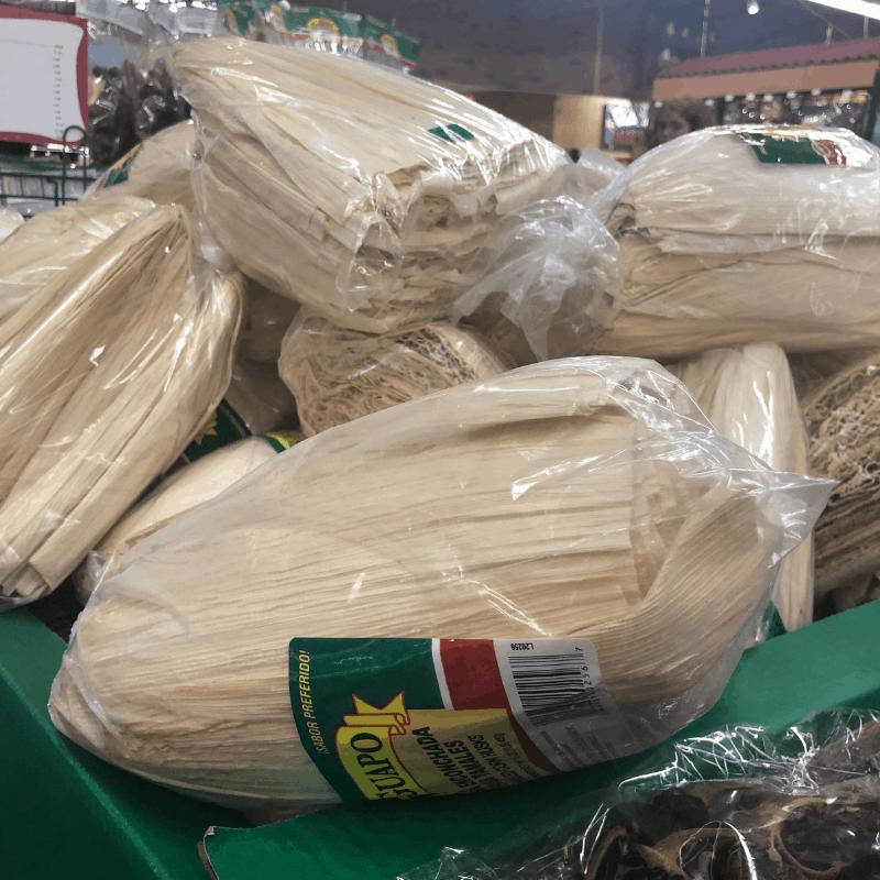 121618 corn husks at Ranch Market
