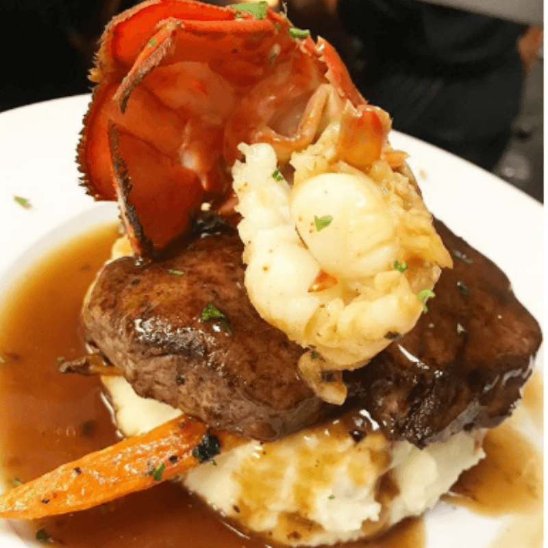 Zappone's Italian Bistro surf and turf