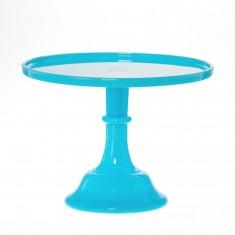 Classic Hostess Robin's Egg Blue Glass Cake Stand