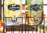 Classic Hostess Double Glass Chalkboard Beverage Dispensers