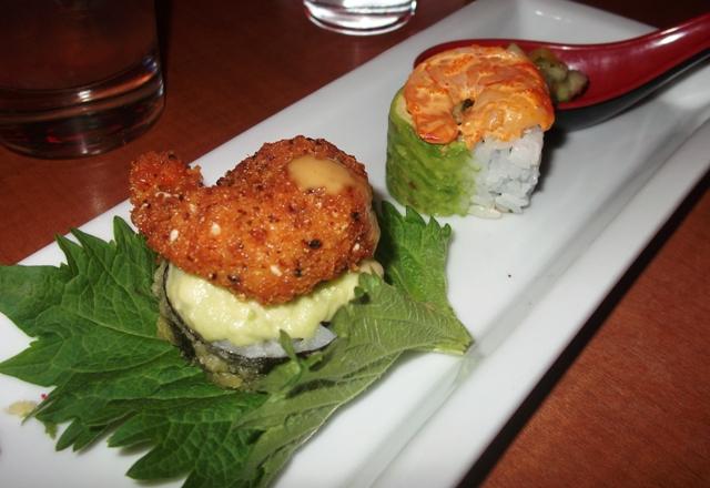 RA Sushi RAckin roll and Tropical roll