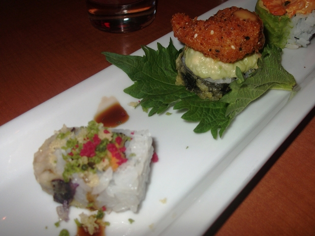 Veggie Tempura ROll and RAckin ROll