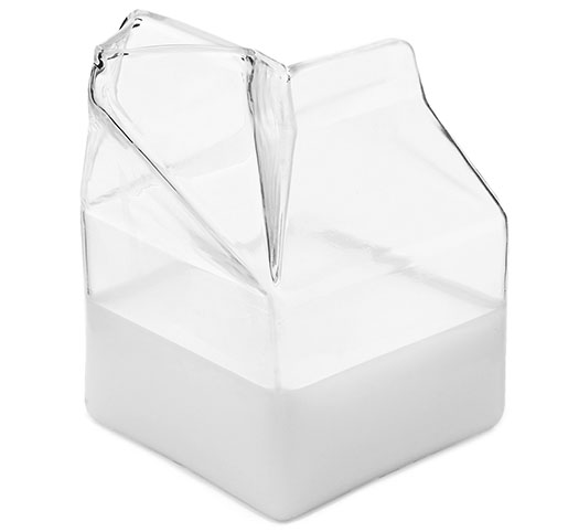 Uncommon Goods Glass Milk Carton