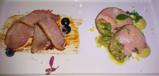 duo of veal and duck