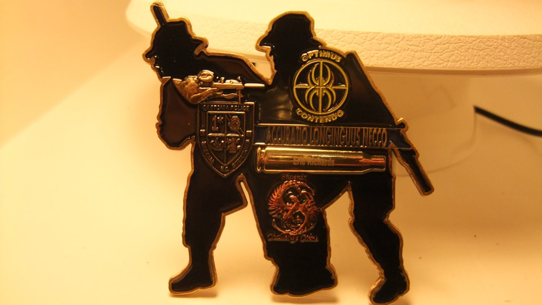 Gastonia PD Sniper competition 2012 limited edition coin back