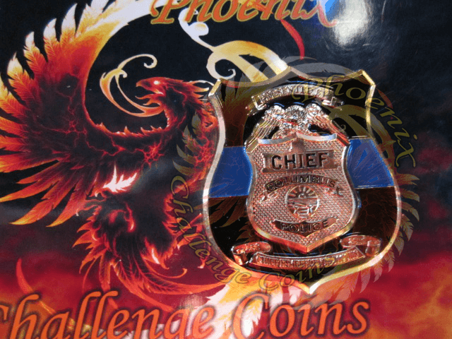 Columbus Pd Chief Coin Front by Phoenix Challenge Coins