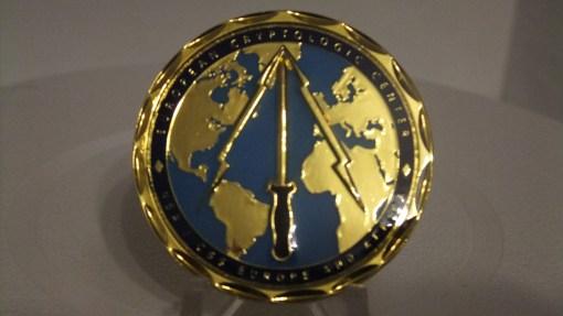 RARE NSA European Cryptologic Center Commander's Coin