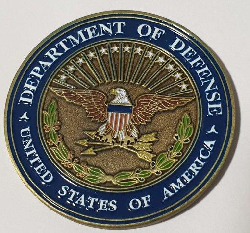 Deputy Secretary of Defense Intelligence blue flag custom coin