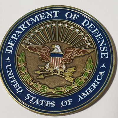 Deputy Secretary of Defense Intelligence blue flag custom coin