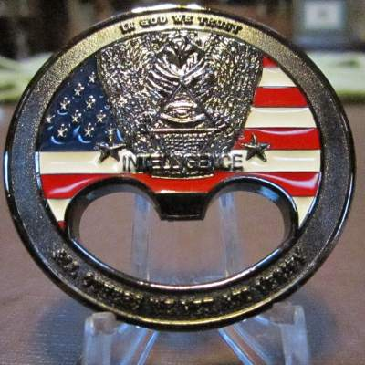 Rare RC-E Strategic Intelligence Debriefing Ctr Parawan bottle Opener By Phoenix Challenge Coins back