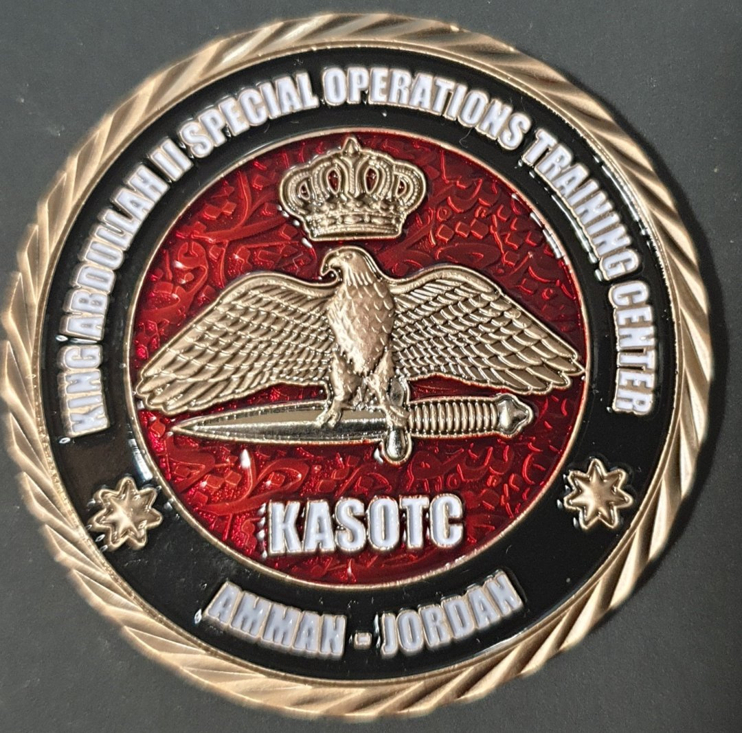 King Abdullah Special Operations Training Complex Jordan- SOFEX Special Operations Coin Rare by Phoenix Challenge Coins