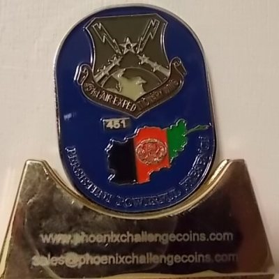 451ST AIR EXPEDITIONARY WING LIMITED EDITION HERITAGE COIN BY PHOENIX CHALLENGE COINS back
