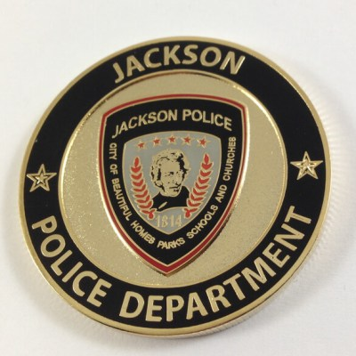 Jackson, MO Police Department coin by Phoenix Challenge Coins