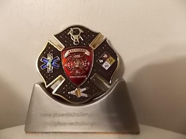 Aberdeen SD Fire Dept Heavy Rescue 3 Custom Fire Department Coin By Phoenix Challenge Coins