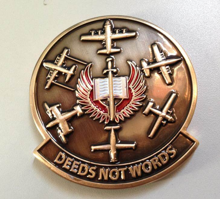 19th Special Operations Squadron AFSOC Custom Challenge Coin by Phoenix Challenge Coins back