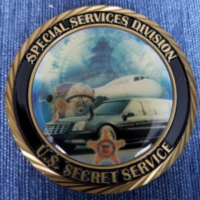 US Secret Service Special USSS Services Division Department of Homeland Security Challenge Coin back