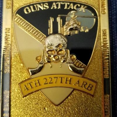 4th Bn 227th ARB Air Cav Deployment OIF 05-06 Commander's Coin back